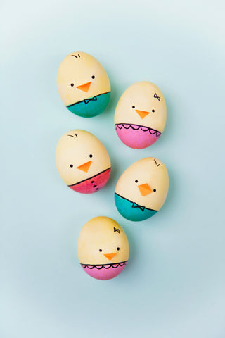 Easter Egg Chick Decor Idea