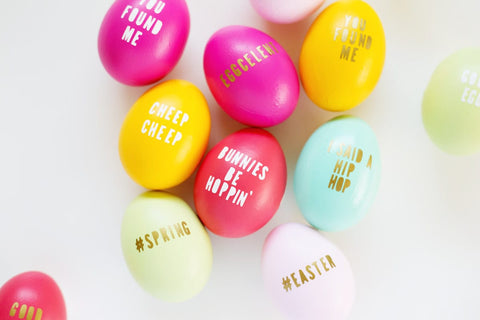 Typography Easter Egg Decor
