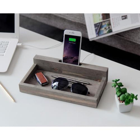 Valet Tray with Cellphone and Keys