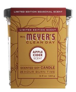 Meyers Clean Day Applecider Candle