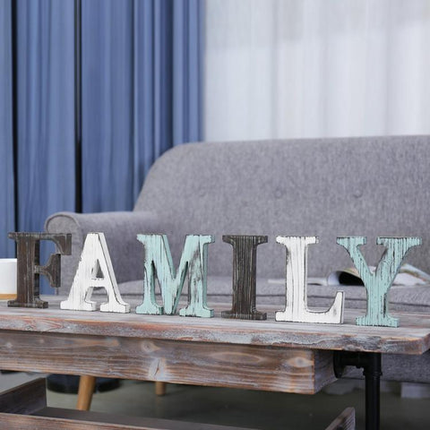Wood Family Sign Multicolor
