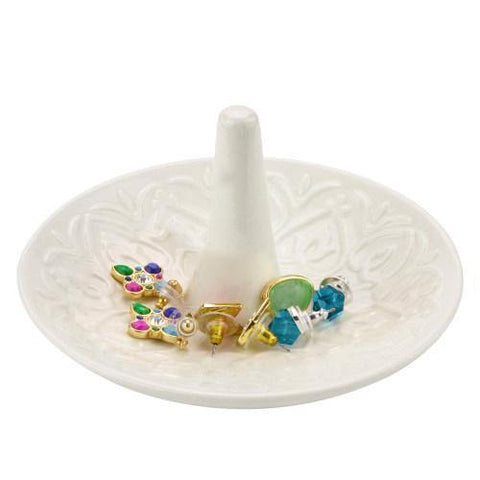 White Ceramic Ring Dish