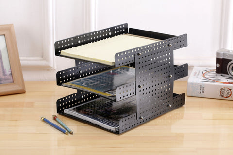 Document organizer black metal