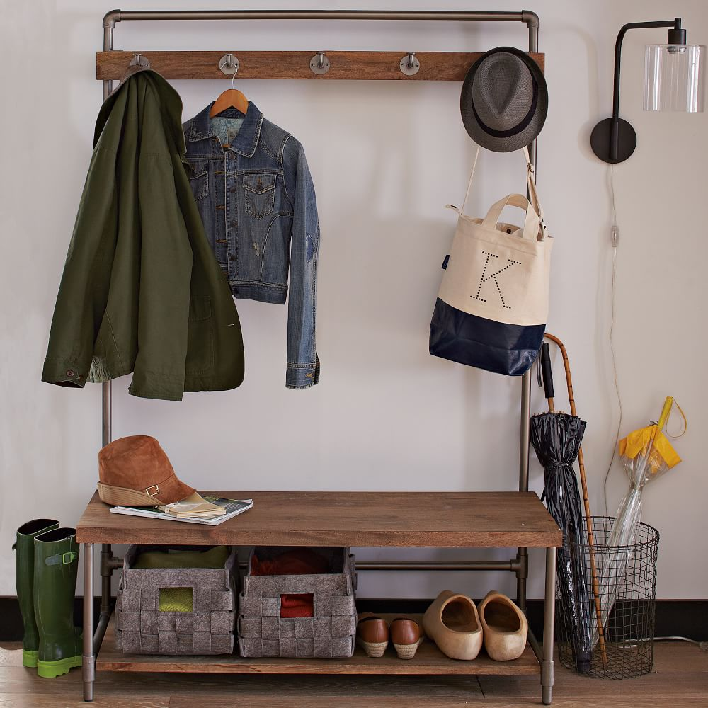 Small space entryway organizer