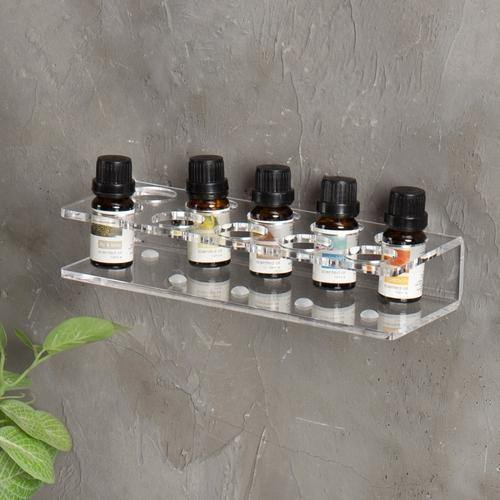10 Slot Modern Acrylic Essential Oil Shelf Rack - MyGift