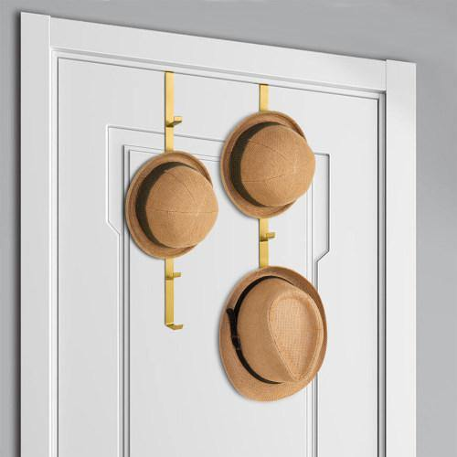 Gold Metal Over-The-Door Rack, Set of 2