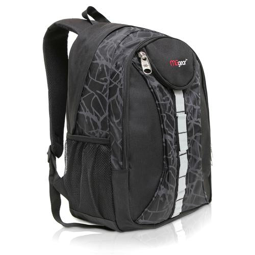 18 Inch Student Bookbag / Outdoor Sports Backpack, Black