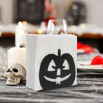 Black Pumpkin Jack-O-Lantern Napkin Holder