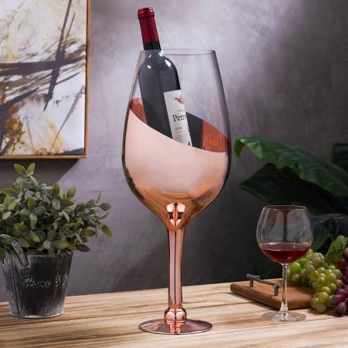 20-inch Giant Copper Tone Wine Glass/Champagne Magnum Chiller