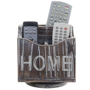 360-Degree Rotating Torched Wood Remote Control Holder Caddy - MyGift