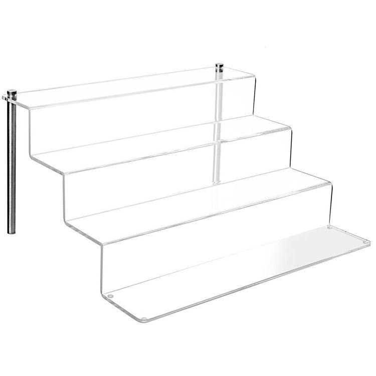 4-Tier Clear Acrylic Shelf & Metal Cupcake Riser Stand - MyGift