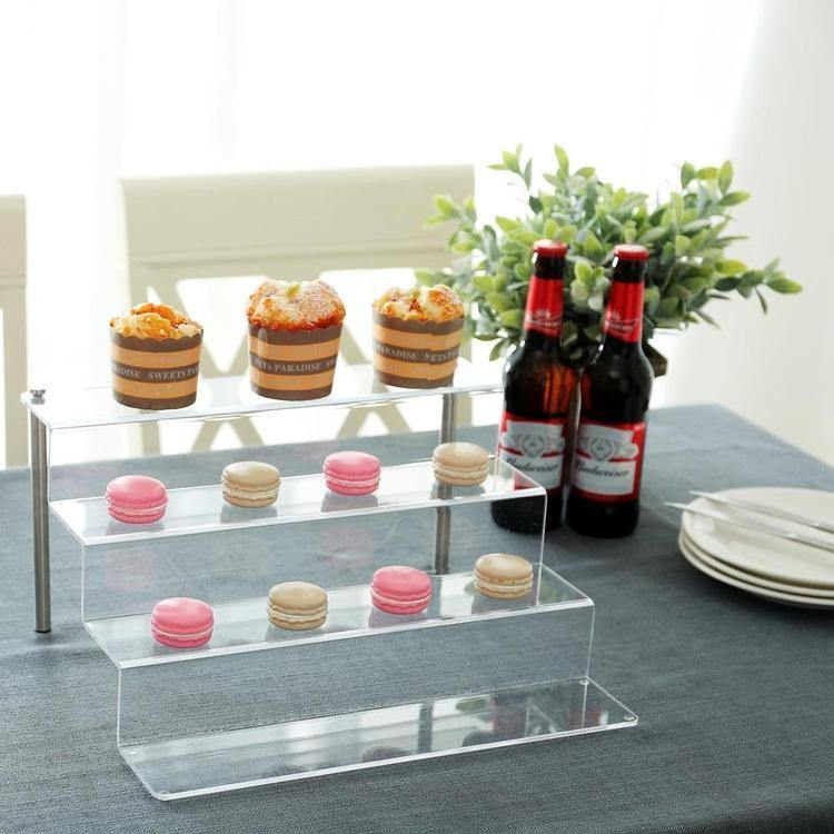 4-Tier Clear Acrylic Shelf & Metal Cupcake Riser Stand - MyGift Enterprise LLC