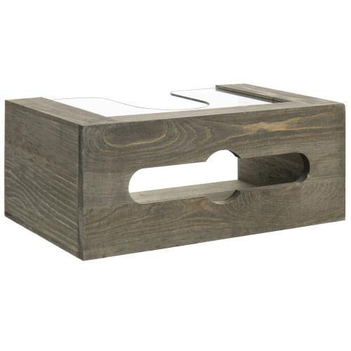 Gray Wood and Clear Acrylic Paper Towel Dispenser - MyGift