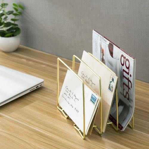 Modern Brass Plated Metal Wire Document Sorte - MyGift