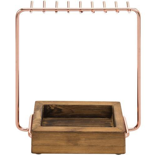 Rose Gold and Burnt Wood Entryway/Jewelry Organizer-MyGift
