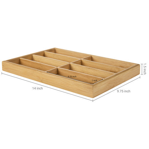 Modern Natural Bamboo Eyewear Display Tray-MyGift