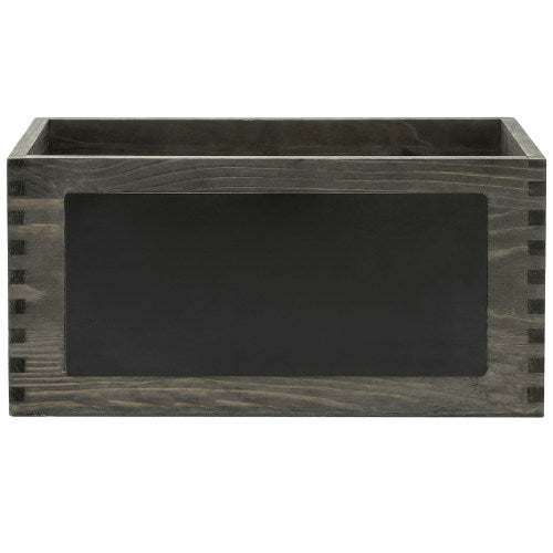 Vintage Gray Wood Mail Sorter Box w/ Chalkboard Surface