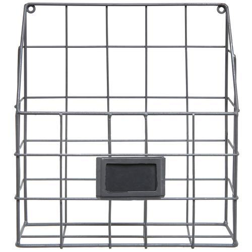 Gray Metal Wire Wall Sorter with Chalkboard Label-MyGift