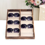 SturBrown Wood Sunglass Display Case-MyGift