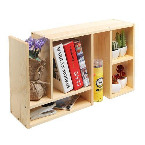 Beige Wood Adjustable Desktop Shelf - MyGift