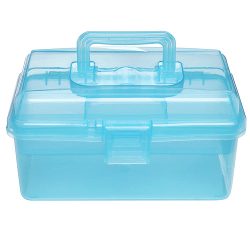 Clear Blue Multipurpose First Aid, Arts & Craft Storage Box