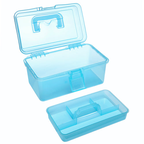 Clear Blue Multipurpose First Aid, Arts & Craft Storage Box-MyGift