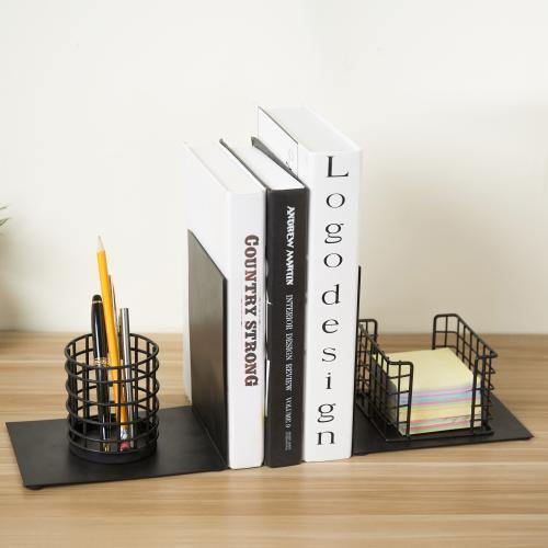 Desktop Space Saver Bookends with Office Organizer - MyGift