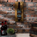 Wall Mounted Wood Beer Plaque with Bottle Opener-MyGift