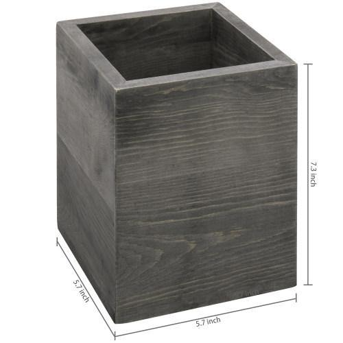 Gray Wood Kitchen Utensil Holder - MyGift