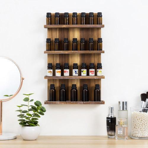 Wall Mounted Pallet Style Essential Oil Rack