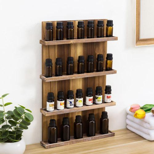 Wall Mounted Pallet Style Essential Oil Rack-MyGift