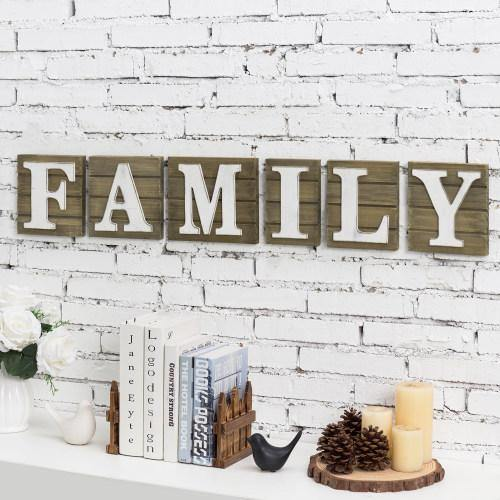 Rustic Brown Wood FAMILY Sign - MyGift