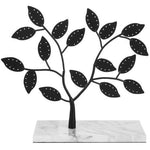 Black Metal & Natural Marble Jewelry Tree-MyGift