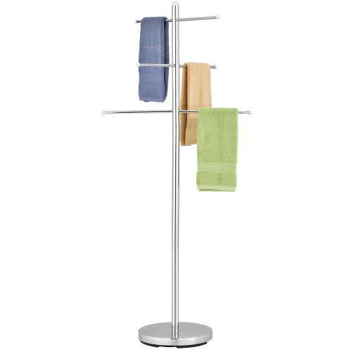 Luxury Chrome-Plated Metal Freestanding Pool & Spa Towel Tree