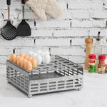 Rustic Silver Galvanized Metal Eggs Tray and Storage Basket