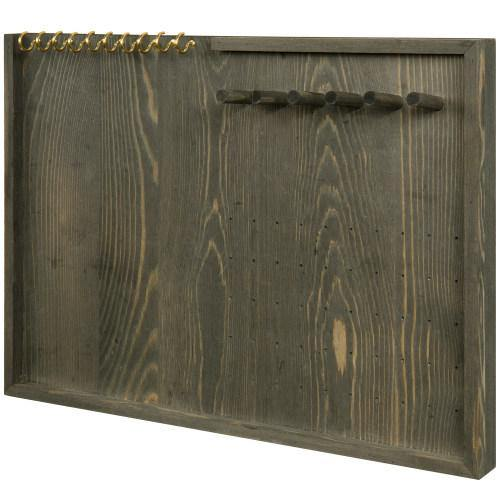 Vintage Gray Wood Jewelry Wall Organizer - MyGift