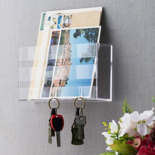 Deluxe Clear Acrylic Wall Mounted Entryway Organizer - MyGift
