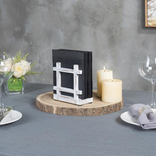 Shabby Whitewashed Napkin Holder-MyGift