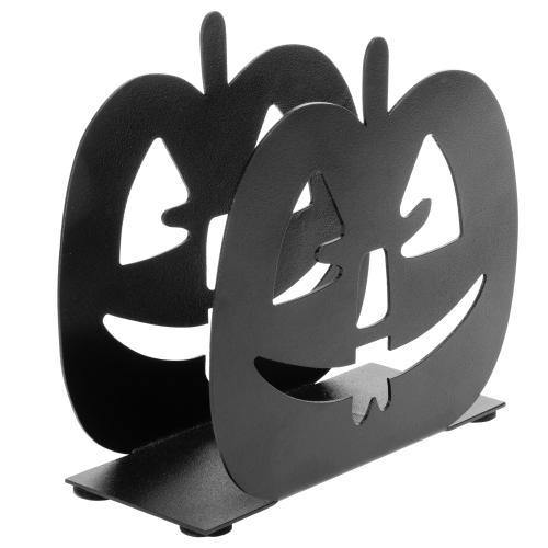 Black Pumpkin Jack-O-Lantern Napkin Holder - MyGift