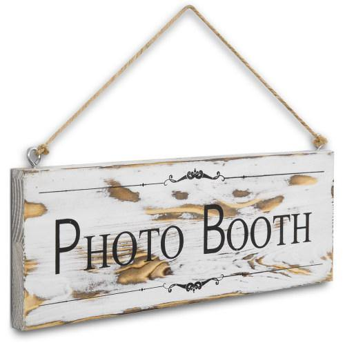 White Wood Photo Booth Sign - MyGift