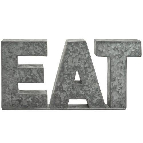 Galvanized Silver Metal Cutout Letters Sign EAT-MyGift