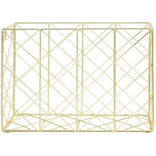 Brass Metal Wire Magazine and File Organizer - MyGift