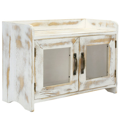 Whitewashed Wood Kitchen & Bathroom Countertop Cabinet