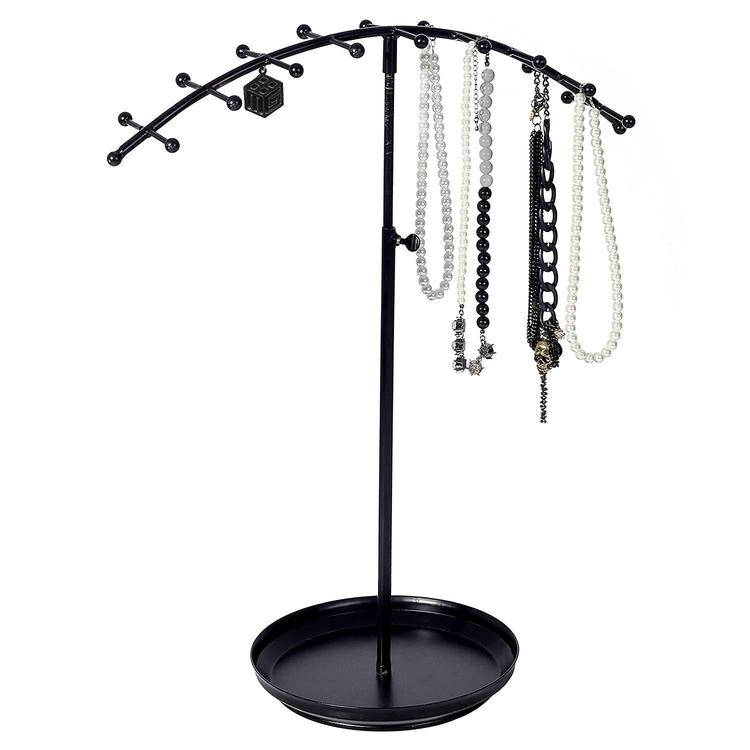 Adjustable Arched Design Jewelry Display Stand w/Tray