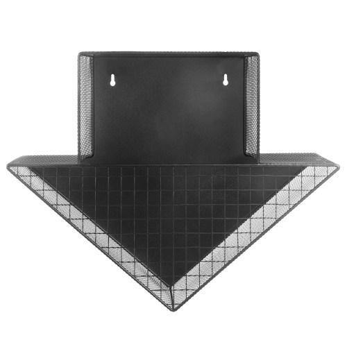 Black Metal Mesh Arrow Design Wall Mounted Kitchen Storage - MyGift