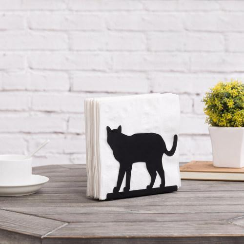 "Black Metal Napkin Holder ""Cat"""