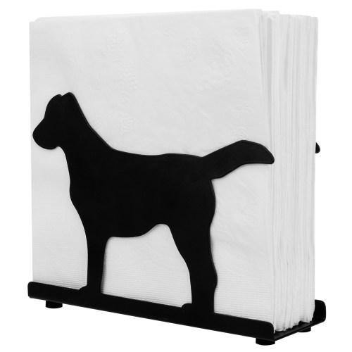 "Black Metal Napkin Holder ""Dog"" - MyGift"