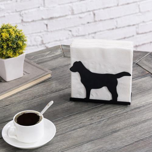"Black Metal Napkin Holder ""Dog"""
