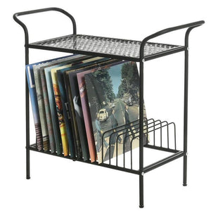 Black Metal Record Player Stand - MyGift