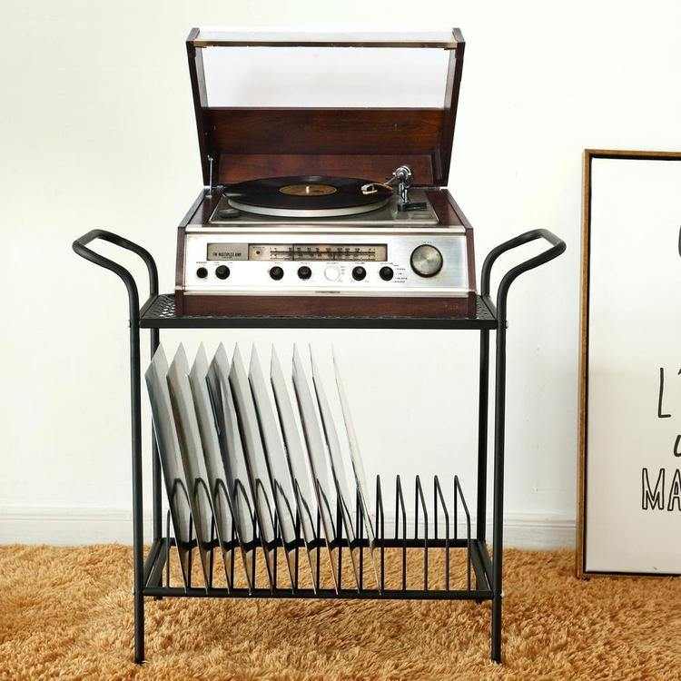 Buy Black Metal Record Player Stand Online At Great Price Mygift